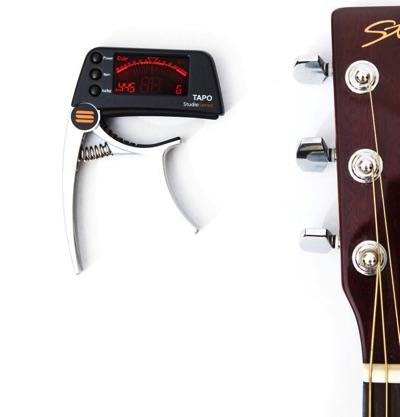 【TAPO】 チューナー付ギターカポ Guitar Capo With Built in Tuner ギター アコギ ベース エレキギター アクセサリー・お取寄