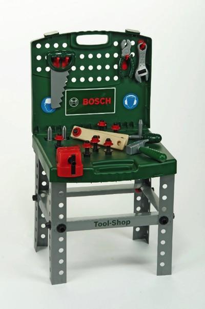 Theo Klein(クレイン) BOSCHミニワークセンター ワークベンチ 工具セット - グリーン・お取寄
