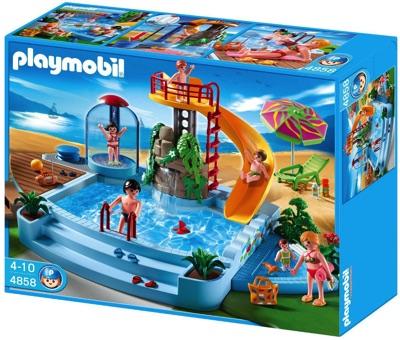 PLAYMOBIL(プレイモービル) プールとウォータースライド 4858 おもちゃ・お取寄