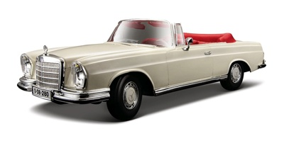 マイスト 1:18 1967 メルセデスベンツ 280SE カブリオレ ダイカストMaisto 1:18 1967 Mercedes-Benz 280SE Cabrio Diecast Vehicle・お取寄