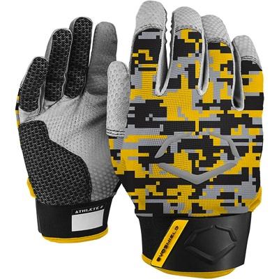 EvoShield エボシールド 野球打者用 プロスタイルバッティンググローブ ゴールド/ブラック迷彩 手袋 Prostyle Batting Gloves Gold/Black Camo・お取寄