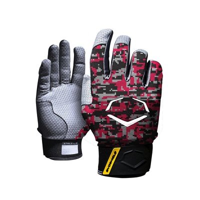 EvoShield エボシールド 野球打者用 プロスタイルバッティンググローブ レッド/ブラック迷彩 手袋 Prostyle Batting Gloves Red/Black Camo・お取寄