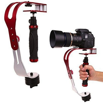 GoPro互換品 AFUNTA Pro ビデオカメラスタビライザー 手ぶれ防止グリップ Handheld Video Camera Stabiliser Steady Camera-Stabilizer・お取寄