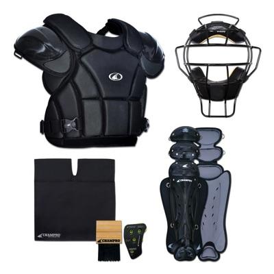 チャンプロ 野球審判用 アンパイア プロテクターセット マスク プロテクター レッグガード Champro Sports Varsity Umpire KIT-BLACK Black CBSUVK