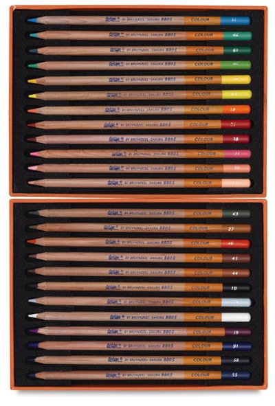 ブランジールデザイン色鉛筆24色/22432-0249 Bruynzeel Design Colored Pencils
