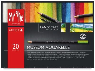 カランダッシュ ミュージアムアクアレール ランドスケープ 水彩色鉛筆 20色 アーチスト向け Caran d'Ache Museum Aquarelle Pencil Sets Landscape, Set of 20 22451-1020