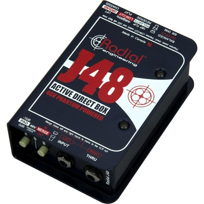 Radial ラジアル J48 MK2 48Vファントム電源駆動 ダイレクトボックス Phantom Power Active Direct Box・お取寄
