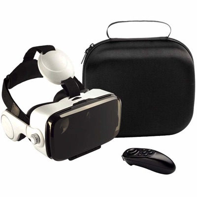 VR ヘッドセットBOBO VR Z4トリガー、ヘッドフォン、リモートコントロール、トラベルバッグ付きVirtual Reality Headset Fit for iPhone Android and Microsoft Smartphone・お取寄