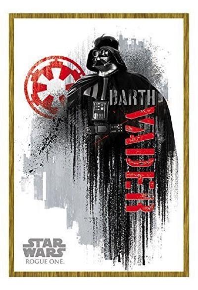 Star Wars Rogue One スターウォーズ ローグワン ダースベイダー グランジ マグネット式掲示板 Darth Vader Grunge ポスター ノーティスボード オーク材フレーム・お取寄