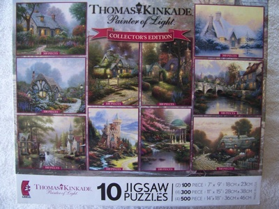 10ジグソーパズルセット トーマスキンケード コレクターズ エディション Thomas Kinkade Collectors Edition #032708-21081-A・お取寄