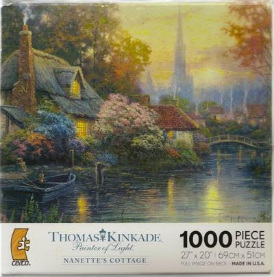 1000ピース ジグソーパズル トーマスキンケード ペインターオブライト ナネットのコテージ THOMAS KINKADE Painter of Light NANETTE's COTTAGE・お取寄