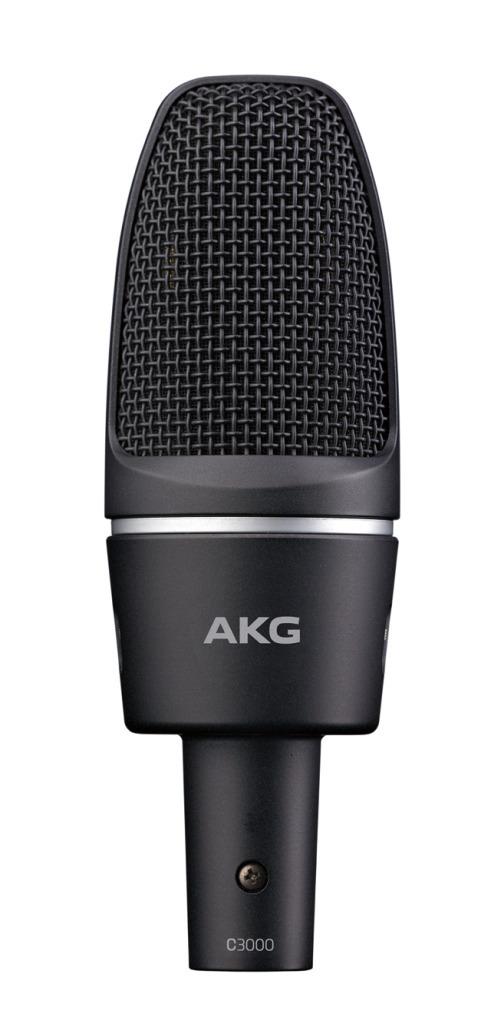 【今だけポイント5倍!12月2日9時59分まで】AKG C3000 サイドアドレス型コンデンサーマイクロフォン【アーカーゲー/エーケージー】