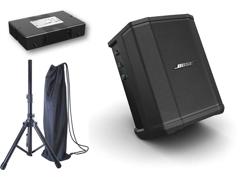 BOSE PAスピーカー S1 Pro (充電式バッテリー内蔵) スタンド付きセット [ボーズ ブルートゥース対応マルチPAスピーカー ]【S1PRO BWPASTND】*