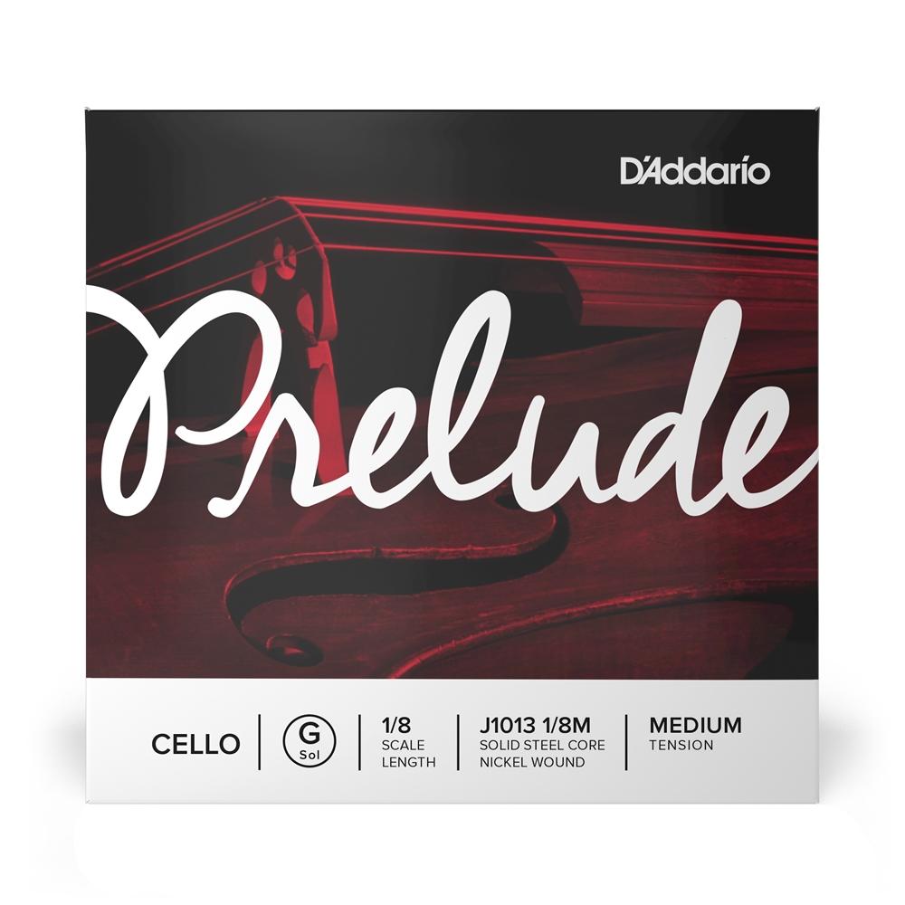 【送料無料!(沖縄・離島を除く)】 D'Addario チェロ弦 J1013 1/8M PRELUDE G線 バラ弦 1/8スケール ミディアムテンション [daddario ダダリオ]【ゆうパケット対応】