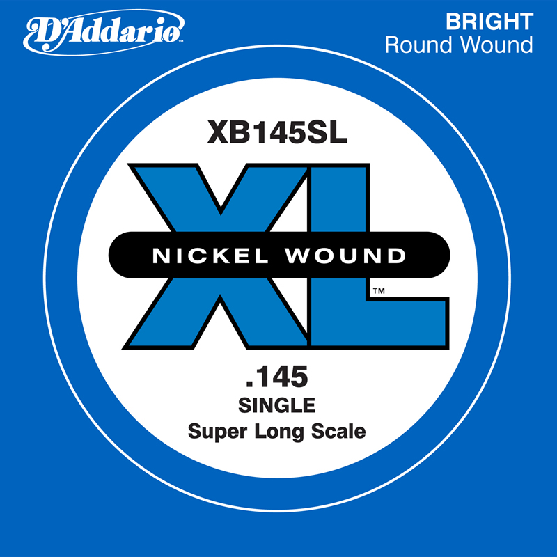 D'Addario ベース バラ弦 5本セット XB145SL Nickel Wound SLong【daddario ダダリオ ベース弦 xb145sl】【ゆうパケット対応】