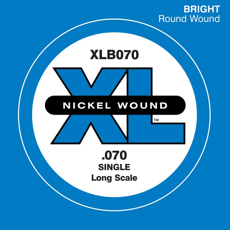 D'Addario ベース バラ弦 5本セット XLB070 Nickel Wound【daddario ダダリオ ベース弦 xlb070】【ゆうパケット対応】