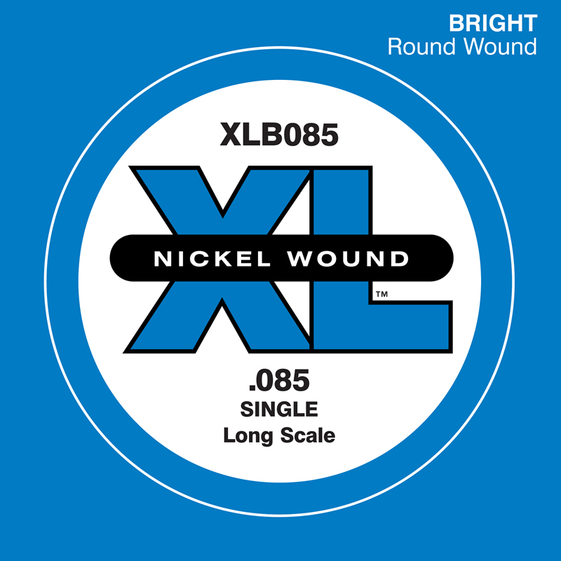 D'Addario ベース バラ弦 5本セット XLB085 Nickel Wound【daddario ダダリオ ベース弦 xlb085】【ゆうパケット対応】