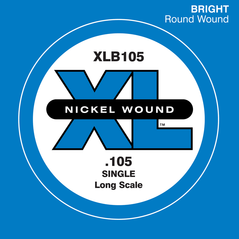 D'Addario ベース バラ弦 5本セット XLB105 Nickel Wound【daddario ダダリオ ベース弦 xlb105】【ゆうパケット対応】