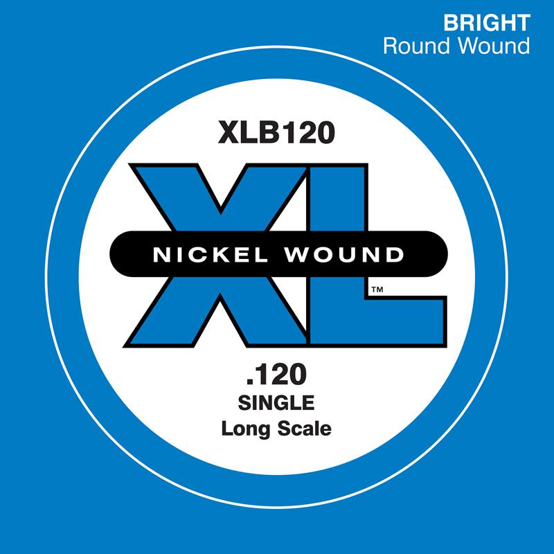 D'Addario ベース バラ弦 5本セット XLB120 Nickel Wound【daddario ダダリオ ベース弦 xlb120】【ゆうパケット対応】