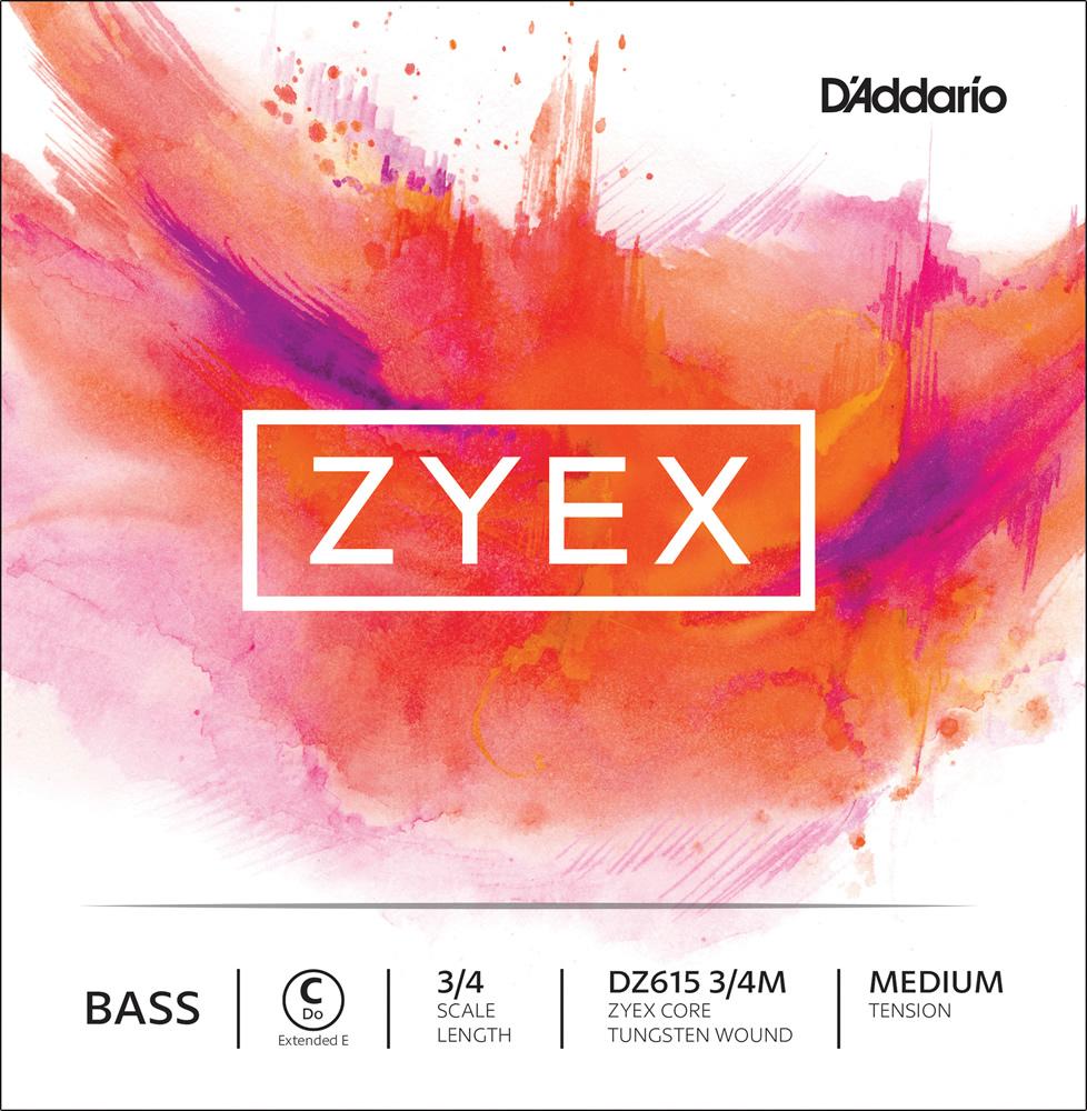 【今だけポイント5倍!12月2日9時59分まで】D'Addario ウッドベース弦 DZ615 3/4M Zyex Bass Strings Strings / C (Extended E)-MED (バラ弦/ミディアム)【ダダリオ daddario コントラバス】【ゆうパケット対応】
