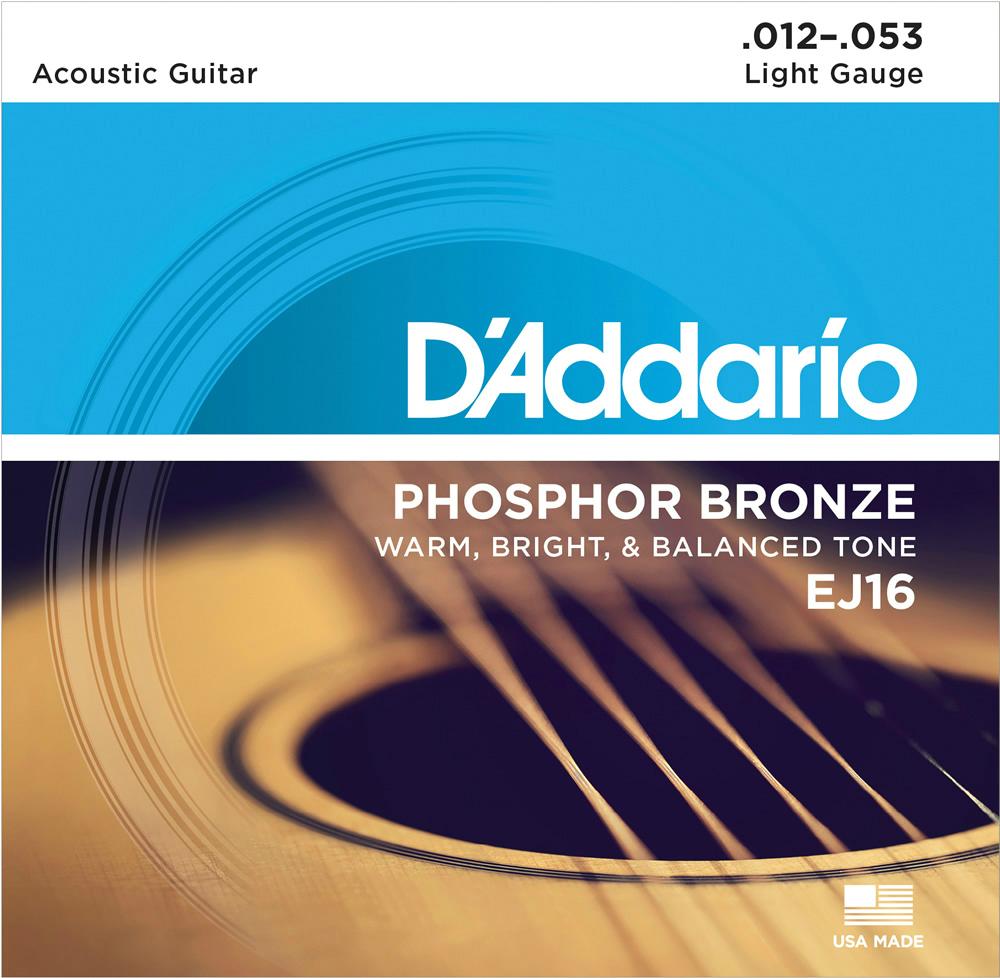 D'Addario ダダリオ アコースティックギター弦 バルクセット弦 EJ16-B25 Light 012-053 [アコギ弦 EJ-16-B25 daddario]