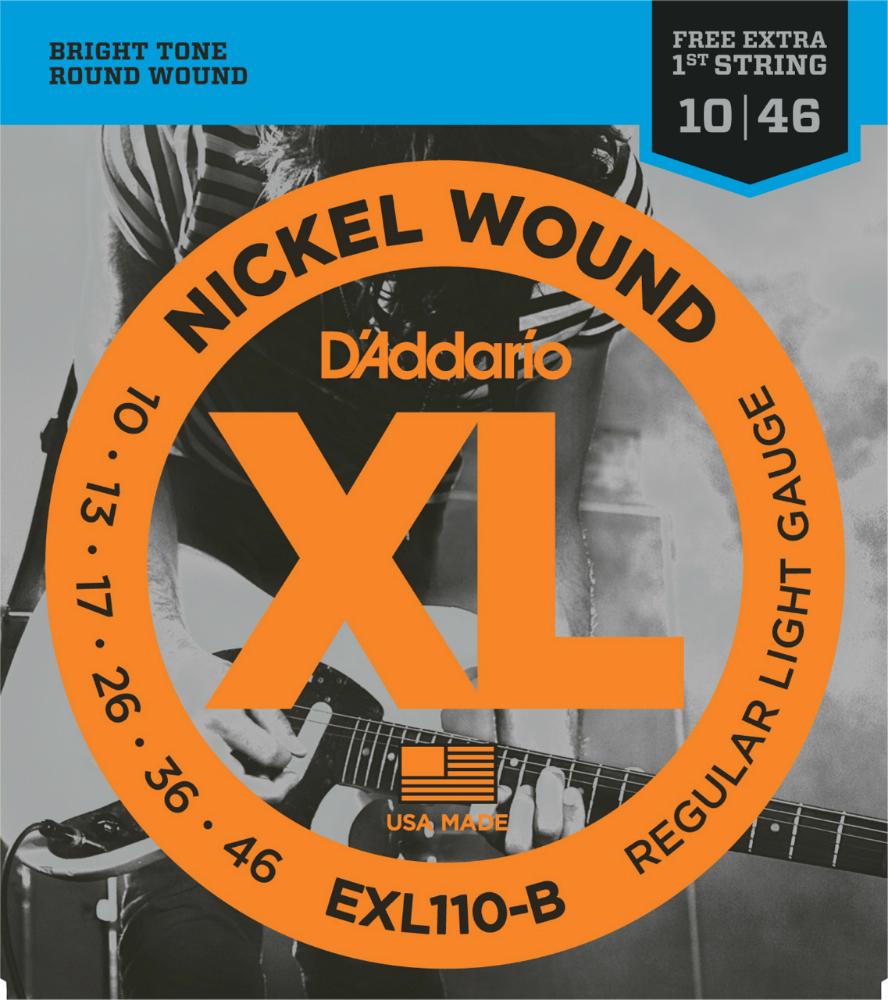 D'Addario ダダリオ エレキギター弦 バルクセット弦 EXL110-B25 R.Light 010-046 [エレキ弦 EXL-110-B25 daddario]
