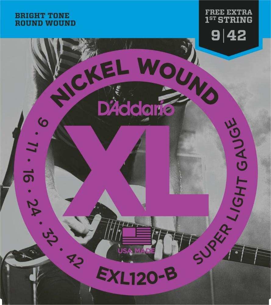 D'Addario ダダリオ エレキギター弦 バルクセット弦 EXL120-B25 S.Light 009-042 [daddario エレキ弦 EXL-120-B25]