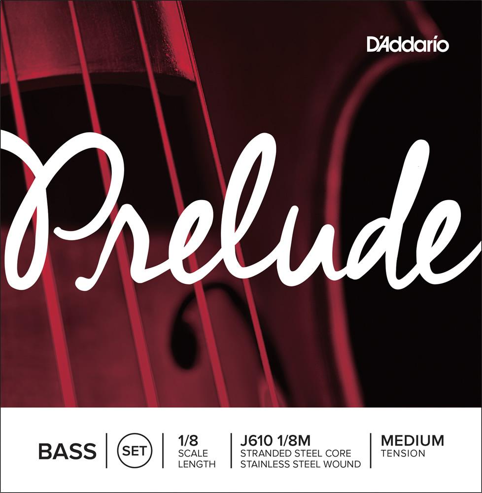 D'Addario ウッドベース弦 J610 1/8M Prelude Bass Strings / SET-MED (セット弦/ミディアム)【ダダリオ daddario コントラバス】