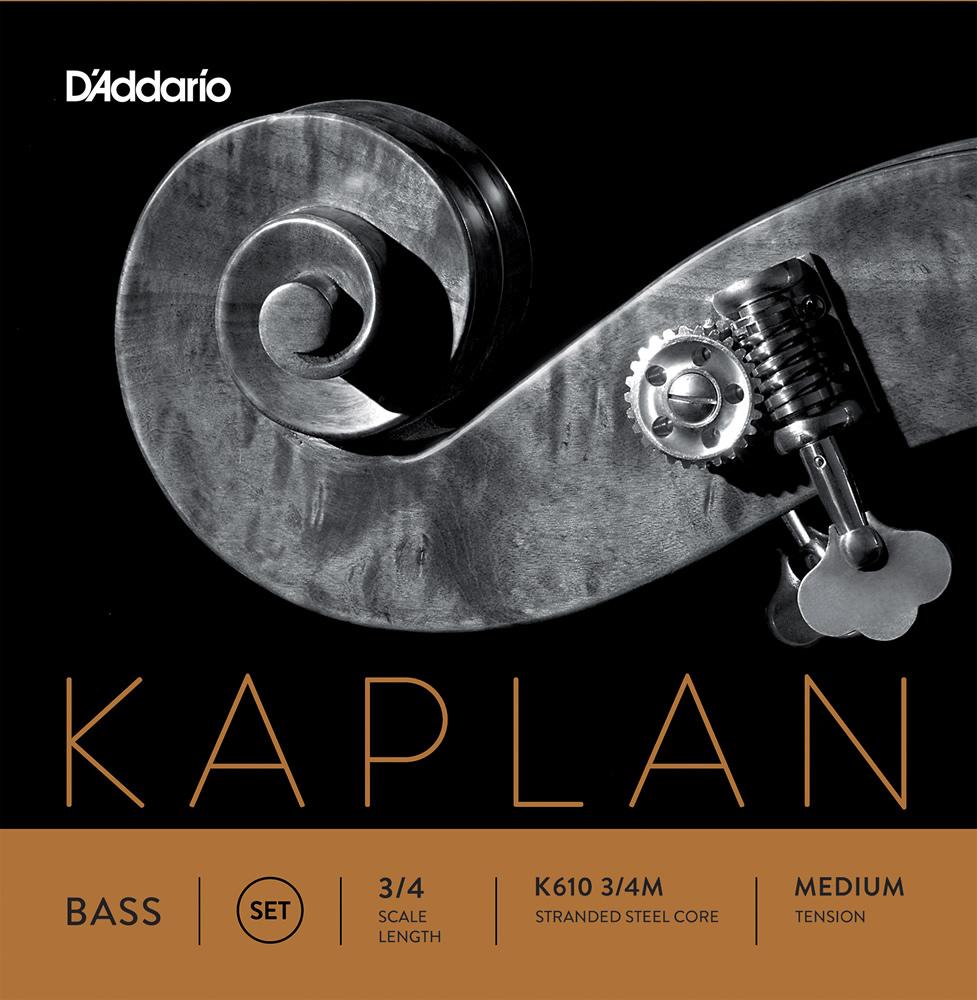 D'Addario ウッドベース弦 K610 3/4M Kaplan Double Bass Strings / SET-MED (セット弦/ミディアム)【ダダリオ daddario コントラバス】