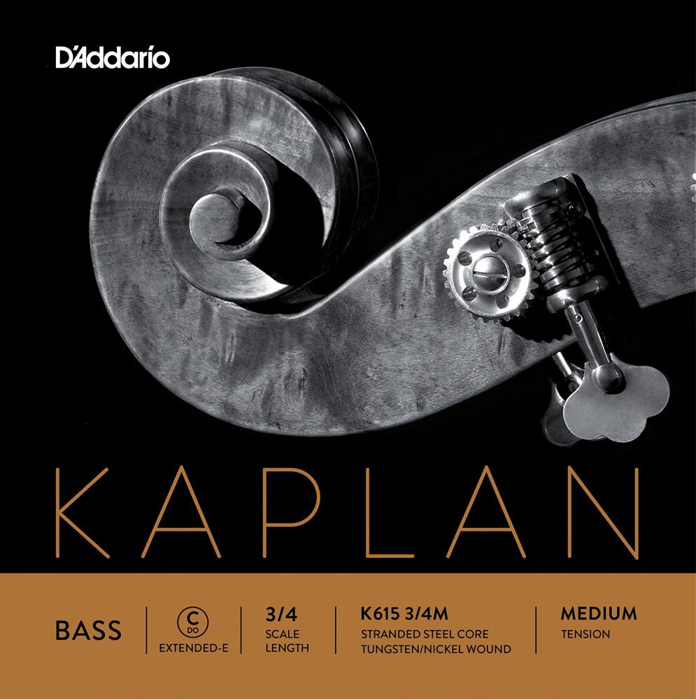 D'Addario ウッドベース弦 K615 3/4M Kaplan Double Bass Strings / C (Extended E)-MED (バラ弦/ミディアム)【ダダリオ daddario コントラバス】【ゆうパケット対応】