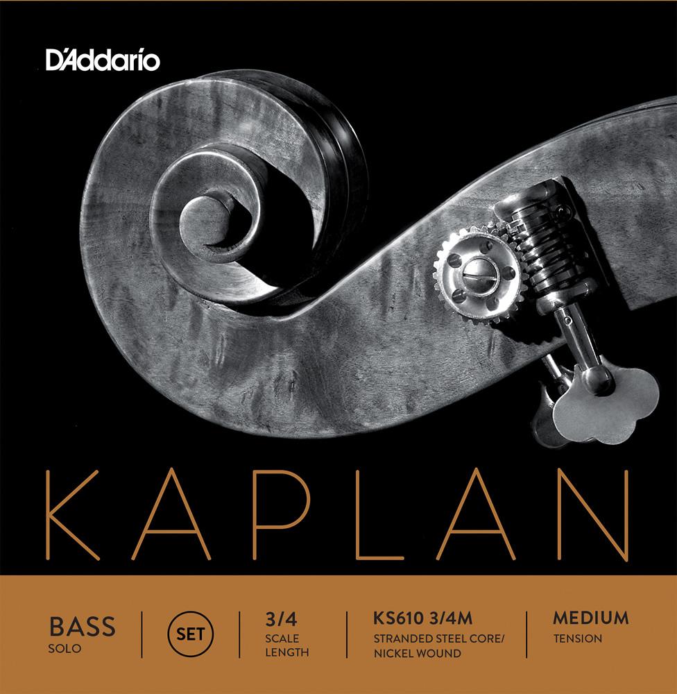 【今だけポイント5倍!12月2日9時59分まで】D'Addario ウッドベース弦 KS610 3/4M Kaplan Solo Bass Strings / SET-MED (セット弦/ミディアム)【ダダリオ daddario コントラバス】