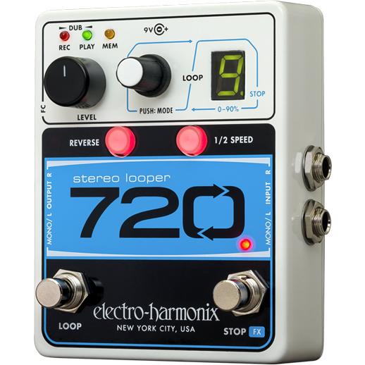 【今だけポイント5倍!12月2日9時59分まで】720 Stereo Looper (720ステレオルーパー)【Electro-Harmonix/EHX/エレクトロ・ハーモニクス/エレハモ】【エフェクター】【ピック10枚セット付き!】