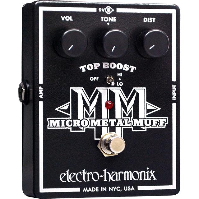 Micro Metal Muff(マイクロメタルマフ) ディストーション with Top Boost【Electro-Harmonix/EHX/エレクトロ・ハーモニクス/エレハモ】【エフェクター】【ピック10枚セット付き!】
