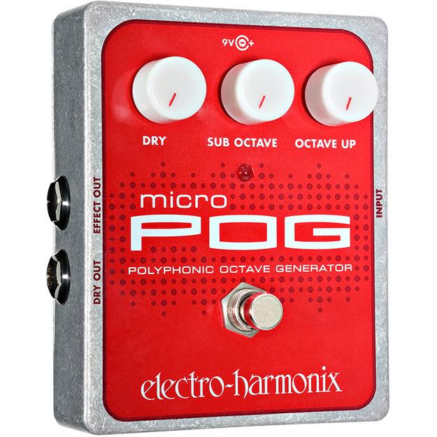 Micro POG(マイクロポグ) ポリフォニック・オクターバー【Electro-Harmonix/EHX/エレクトロ・ハーモニクス/エレハモ】【エフェクター】【ピック10枚セット付き!】
