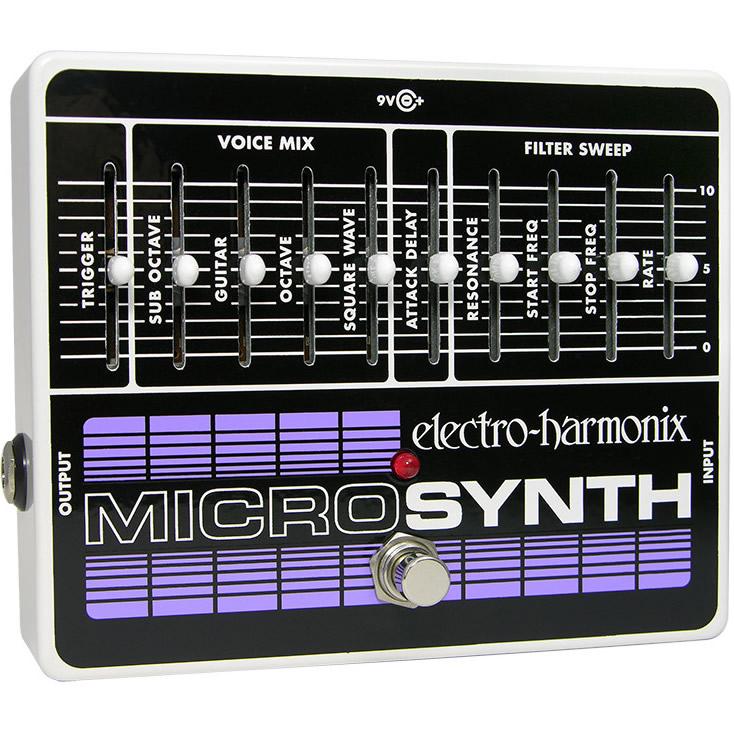 Micro Synthesizer(マイクロシンセサイザー) ギター・シンセサイザー【Electro-Harmonix/EHX/エレクトロ・ハーモニクス/エレハモ】【エフェクター】【ピック10枚セット付き!】