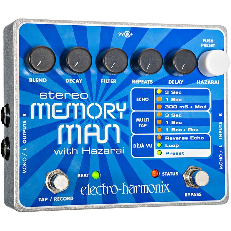 Stereo Memory Man with Hazarai(ステレオメモリーマン・ハザライ) デジタル・ディレイ/ルーパー【エレクトロ・ハーモニクス/エレハモ】【エフェクター】【ピック10枚セット付き!】