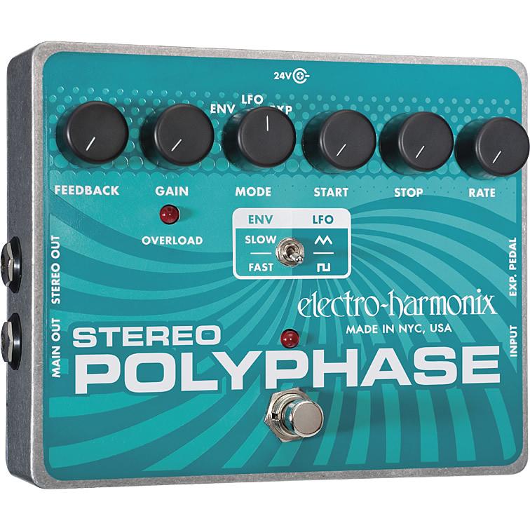 Stereo Polyphase(ステレオポリフェイズ) フェイズシフター【Electro-Harmonix/EHX/エレクトロ・ハーモニクス/エレハモ】【エフェクター】【ピック10枚セット付き!】