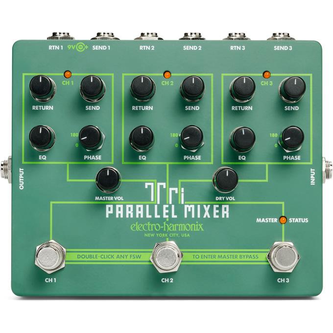 【今だけポイント5倍!12月2日9時59分まで】【ピック10枚セット付き!】Tri Parallel Mixer (トライパラレルミキサー) スイッチャー【Electro-Harmonix EHX エレクトロ・ハーモニクス エレハモ エフェクター】