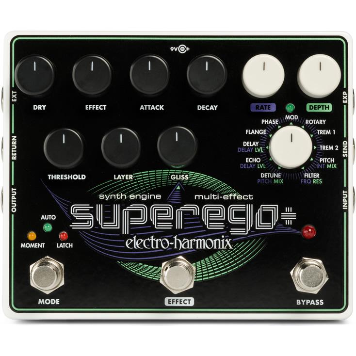 【ピック10枚セット付き!】Superego+(スーパーイーゴープラス) ギター・シンセサイザー【Electro-Harmonix/EHX/エレクトロ・ハーモニクス/エレハモ】【エフェクター】