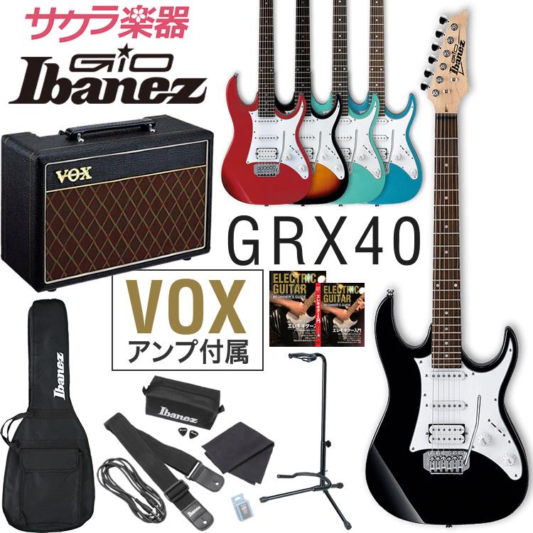 【今だけポイント5倍!12月2日9時59分まで】GIO Ibanez アイバニーズ エレキギター GRX40 [VOX Pathfinder10 アンプ入門セット]【ご予約商品】