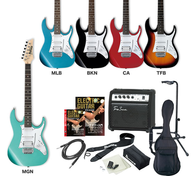GIO Ibanez アイバニーズ エレキギター GRX40 [TG-75 アンプ入門セット]【発送区分:大型】
