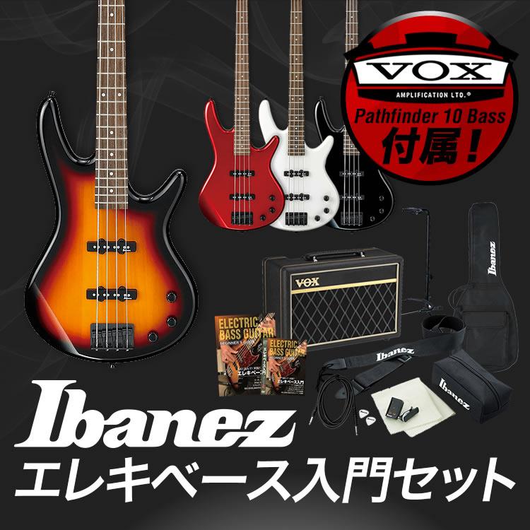 【7%OFFクーポンが使える!1月16日9時59分まで】GIO Ibanez アイバニーズ ベース GSR320 [VOX Pathfinder10 Bass アンプ入門セット]【発送区分:大型】