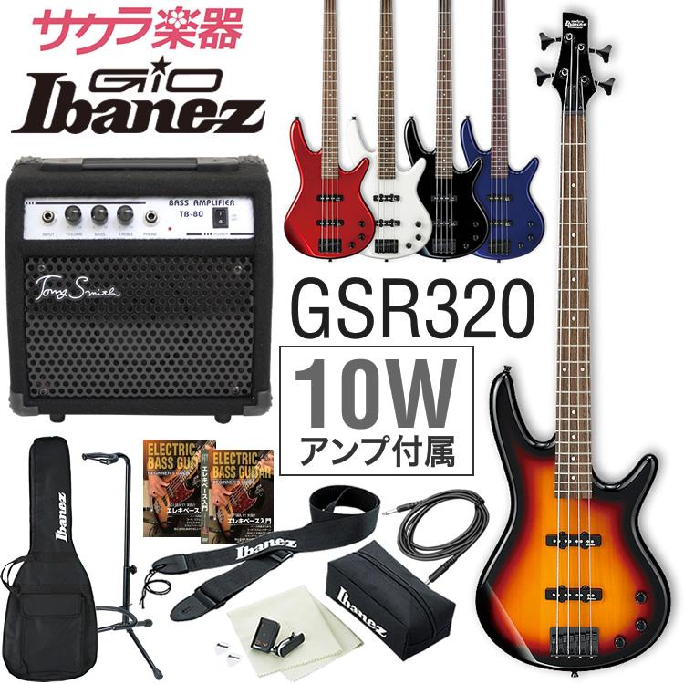 GIO Ibanez アイバニーズ ベース GSR320 [TB-80 アンプ入門セット]【発送区分:大型】