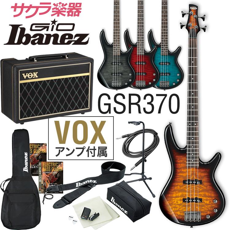 【クーポンで5%オフ!7月19日9時59分まで】GIO Ibanez アイバニーズ ベース GSR370 [VOX Pathfinder10 Bass アンプ入門セット]【発送区分:大型】