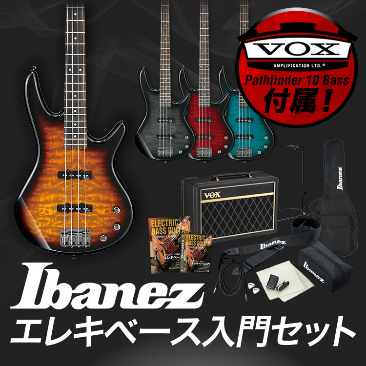 【7%OFFクーポンが使える!1月16日9時59分まで】GIO Ibanez アイバニーズ ベース GSR370 [VOX Pathfinder10 Bass アンプ入門セット]【発送区分:大型】