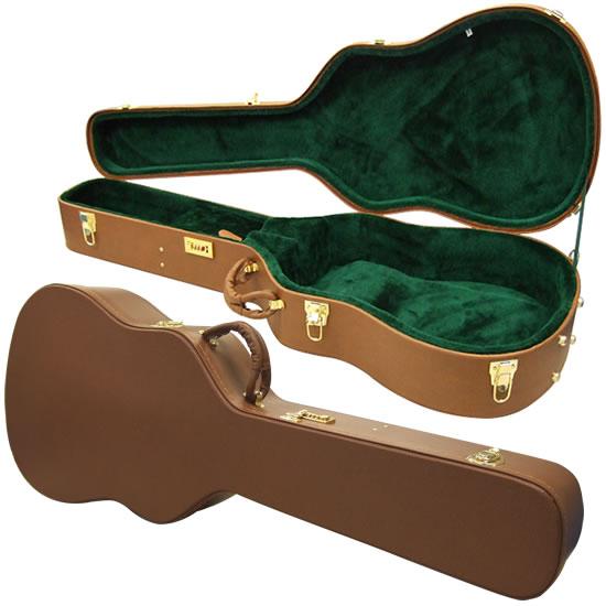 【クーポンで5%オフ!6月3日9時59分まで】ドレッドノートシェイプ対応 アコースティックギター用木製ハードケース(ダイヤルロック式) W-140 【W140】【発送区分:大型】