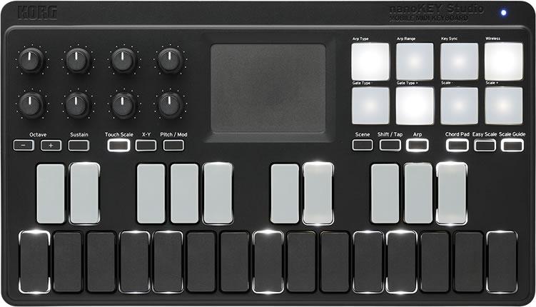 KORG モバイル MIDI キーボード nanoKEY Studio [Bluetoothワイヤレス接続可能]【コルグ ナノキー スタジオ NANOKEY-ST】