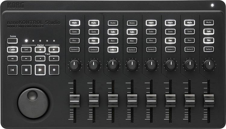 送料無料 沖縄 離島を除く 代引き手数料無料 KORG モバイル MIDI 定番スタイル コントローラー Studio nanoKONTROL スタジオ コルグ 激安 激安特価 送料無料 NANOKTRL-ST Bluetoothワイヤレス接続可能 ナノコントロール