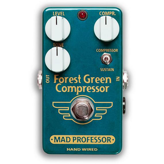 【ピック10枚セット付き!】MAD PROFESSOR エフェクター Forest Green Compressor HW (HAND WIRED) フォレストグリーン コンプレッサー 【マッドプロフェッサー ハンドワイヤード】