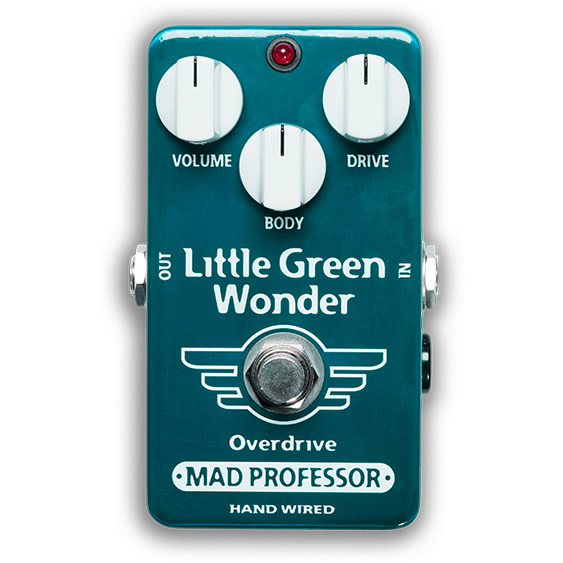 【ピック10枚セット付き!】MAD PROFESSOR エフェクター Little Green Wonder Overdrive HW (HAND WIRED) リトルグリーンワンダー オーバードライブ 【マッドプロフェッサー ハンドワイヤード】
